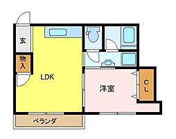 コンバイン新杉田[305号室]の間取り
