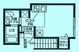 コートハウス溝の口B[2階]の間取り