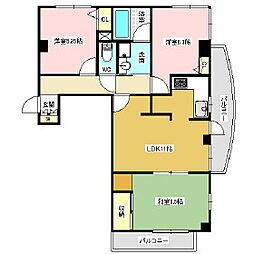 リバーサイドビル[5階]の間取り