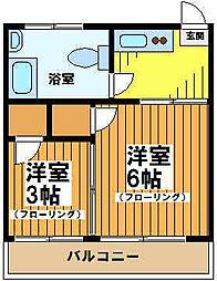 東京都杉並区和泉1の賃貸アパートの間取り