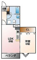 ドール甲子園[3階]の間取り