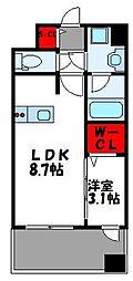 グランフォーレ千早マークスクエア ウエストウイング 14階1LDKの間取り
