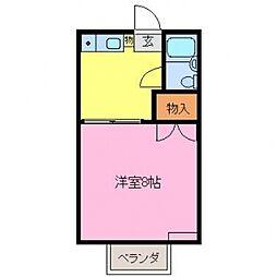 ハイツ松葉[A211号室]の間取り