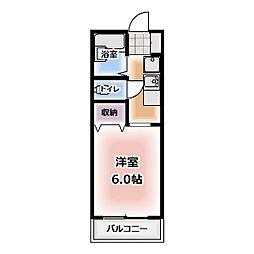 愛知県北名古屋市弥勒寺東2丁目の賃貸アパートの間取り