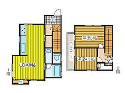 永田貸家[2階]の間取り