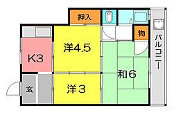 すすむマンション[1階]の間取り