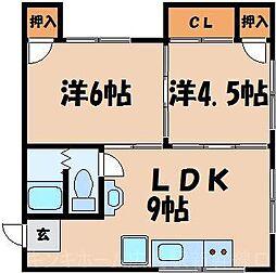 広島県広島市東区曙2丁目の賃貸マンションの間取り