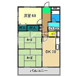 メゾンキタムラ[4階]の間取り