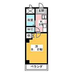 レジデンス福池[2階]の間取り