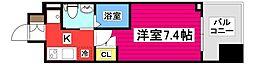 レジディア仙台上杉 2階1Kの間取り
