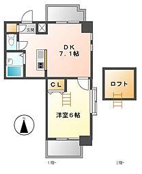 置地マンション[5階]の間取り