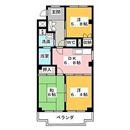 プレサージュKAKO[1階]の間取り