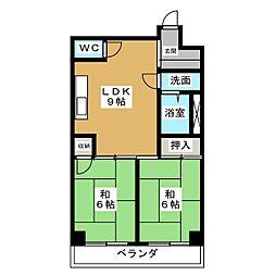 プランドール原田パートII[3階]の間取り