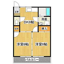 ベルハイツ No.2[2階]の間取り