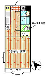セレーノI2階Fの間取り画像