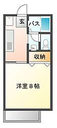 サンハイツタクマ[1階]の間取り