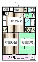 東京都板橋区高島平9丁目の賃貸マンションの間取り