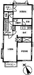 [テラスハウス] 東京都世田谷区北沢1丁目 の賃貸【/】の間取り