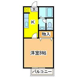 SUN COURT J[2階]の間取り