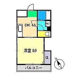 パル・ボナール[4階]の間取り