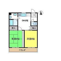 ロータリーメゾン[2階]の間取り