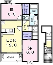 コンフォーティア[2階]の間取り