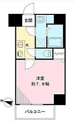 Osaka Metro谷町線 天神橋筋六丁目駅 徒歩8分の賃貸マンション 4階1Kの間取り