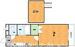 大阪府枚方市船橋本町2丁目の賃貸マンションの間取り