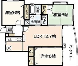 ソシアII[1階]の間取り