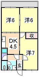 須磨マンション(初期費用総額0円プラン)[3階]の間取り
