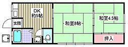 井村ビル[206号室]の間取り