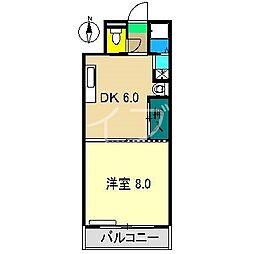 クアルト・ドセ[4階]の間取り