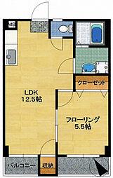 小山ビル[1-502号室]の間取り