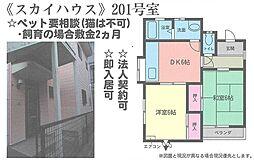 神奈川県横浜市泉区中田東1丁目の賃貸アパートの間取り