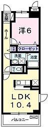 広島県福山市東川口町3の賃貸マンションの間取り