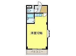 中谷ハウス[2A号室]の間取り