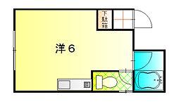 Uハイム[1階]の間取り