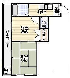 平野コーポ[301号室]の間取り