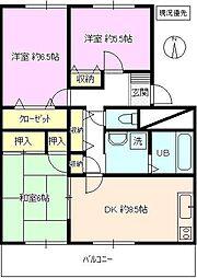 長野県長野市大字平林の賃貸マンションの間取り