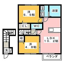 TIARAI[2階]の間取り