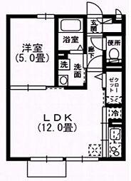 アーバンスクェア2[101号室号室]の間取り