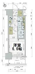 レジュールアッシュTAISHO LEGANT 2階1Kの間取り