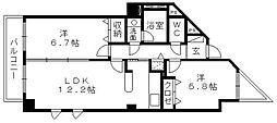 佐鳴湖パークタウンサウス[13階]の間取り
