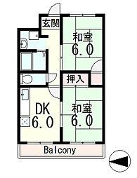 ブエナビスタ瀬田[3階]の間取り