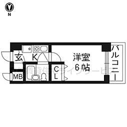 エスリード京都河原町第2 204[2階]の間取り
