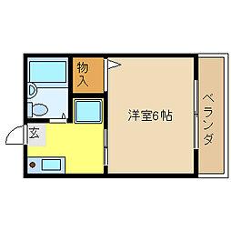 ホープ小阪[201号室]の間取り