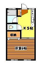東京都目黒区柿の木坂2丁目の賃貸マンションの間取り