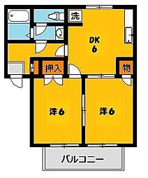 メゾンドクレールA[2階]の間取り