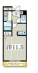 ユノディエール[2階]の間取り