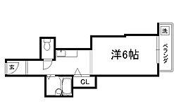 御所西シンワマンション[306号室]の間取り